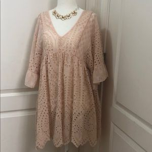 b1b712ec5606 Anthropologie Dresses - FINAL SALE Akemi + Kin Brooke Eyelet Swing Dress